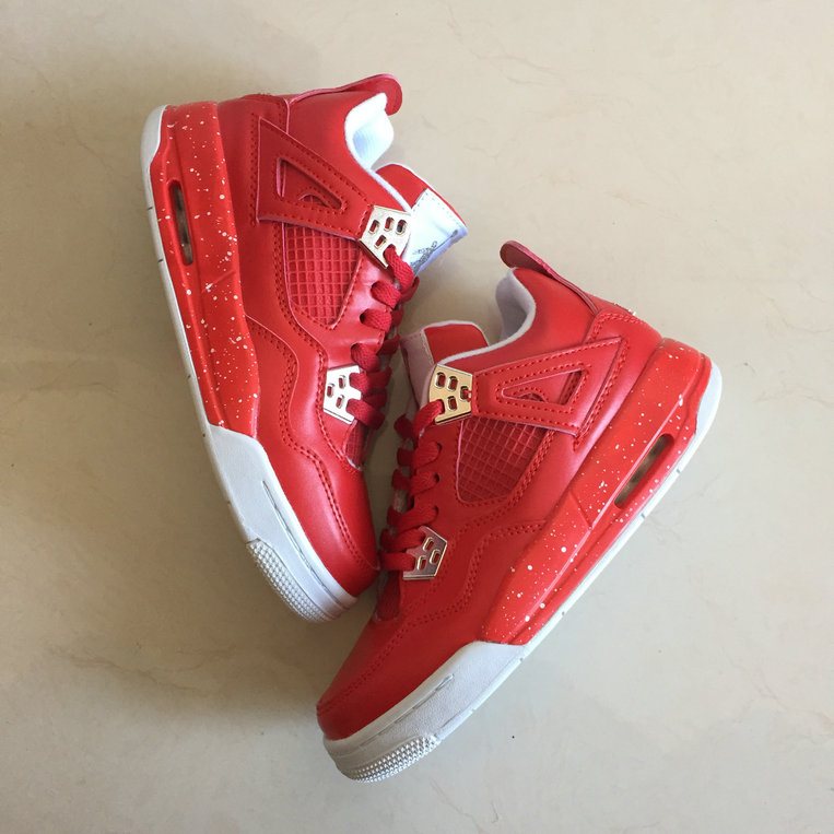 Cheap Wholesale Air Jordan 4 GS Chinese New Years Red White Grey