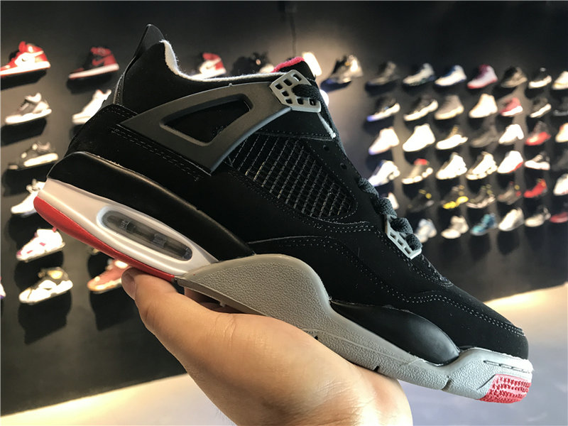 2018 Cheap Wholesale Air Jordan 4 Red Black White 308497-089