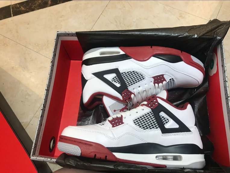 Wholesale Air Jordan 4 Retro Game Red Black White Blanc Noir Claret Rouge