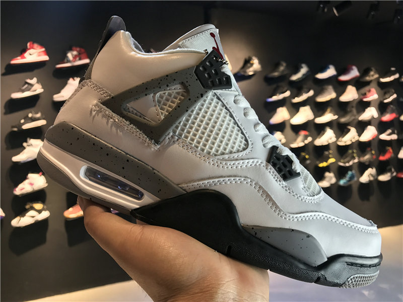 2018 Cheap Wholesale Air Jordan 4 White Cement 840606-192
