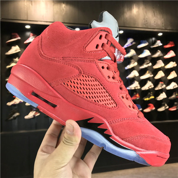newest ad5b6 68c51 2018 Cheap Wholesale Air Jordan 5 Red Suede 136027-603