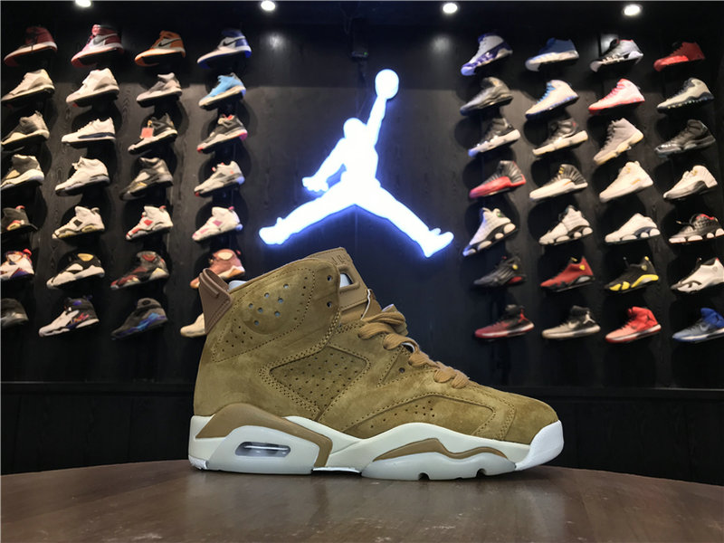 2018 Cheap Wholesale Air Jordan 6 GS Wheat 384664-705