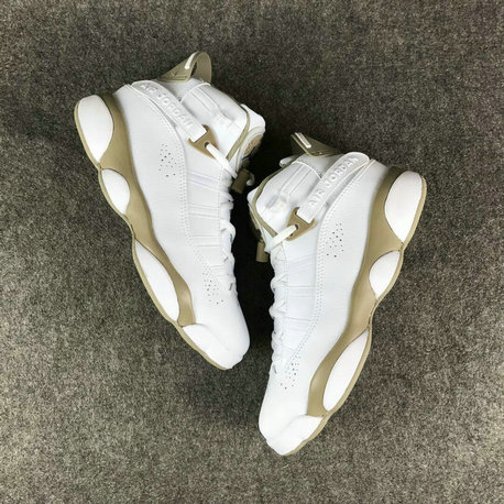Air Jordans Cheap Wholesale Nike Air Jordan 6 Rings Womens Gold White