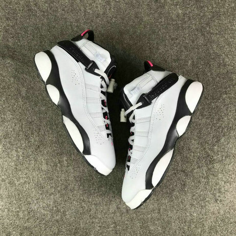 Air Jordans Cheap Wholesale Nike Air Jordan 6 Rings Womens White Pink Black