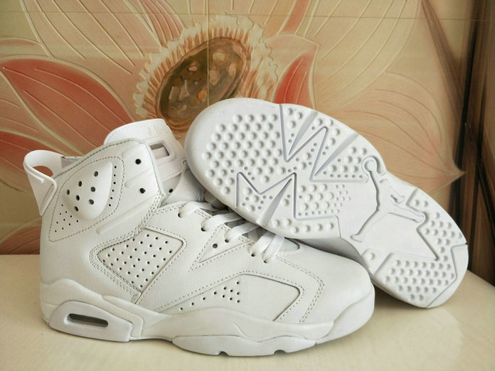 Air Jordans Cheap Wholesale Nike Air Jordan 6 Womens All White