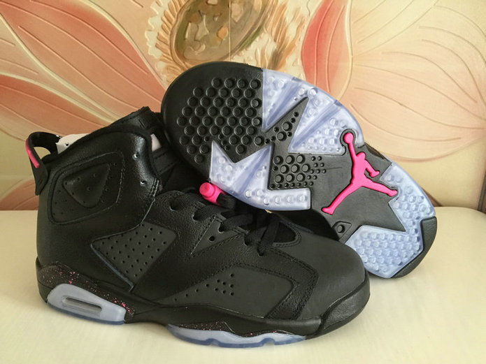 Air Jordans Cheap Wholesale Nike Air Jordan 6 Womens Pink Black