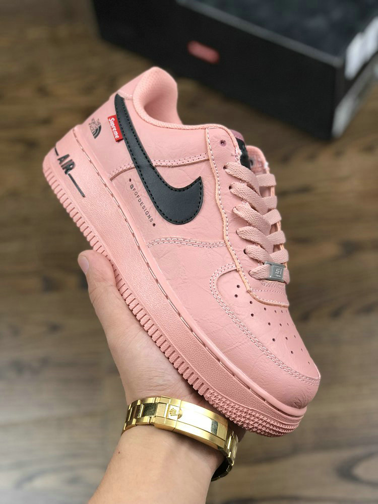 Wholesale Air force 1 x Supreme x The North Face Rose Gold
