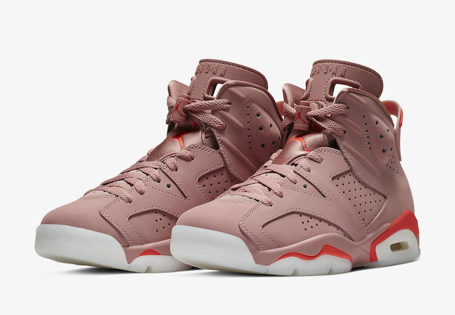 Wholesale Aleali May x Air Jordan 6 Millennial Pink Rust Pink Bright Crimson CI0550-600