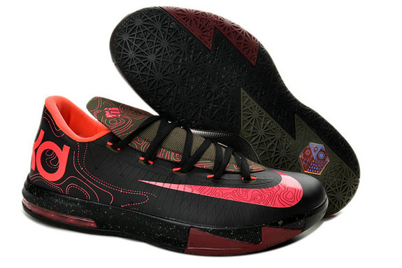 Black Pink Nike Kevin Durant 6 For Kids