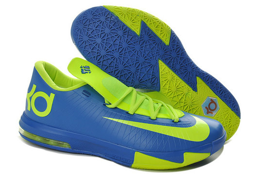 Blue Green Nike Kevin Durant 6 For Kids