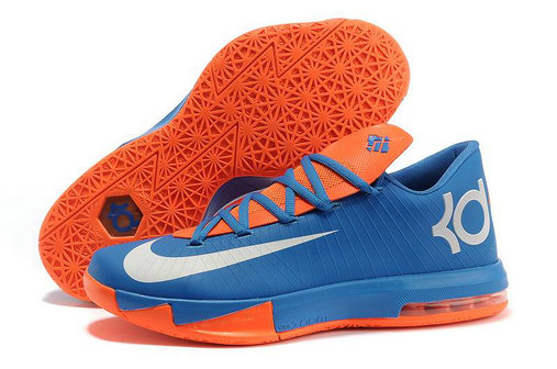Blue White Orange Nike Kevin Durant 6 For Kids