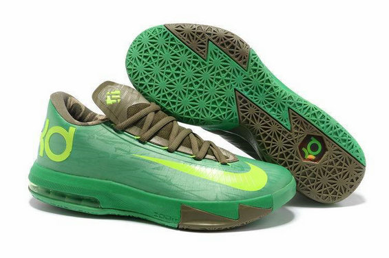 Brown Green Nike Kevin Durant 6 For Kids
