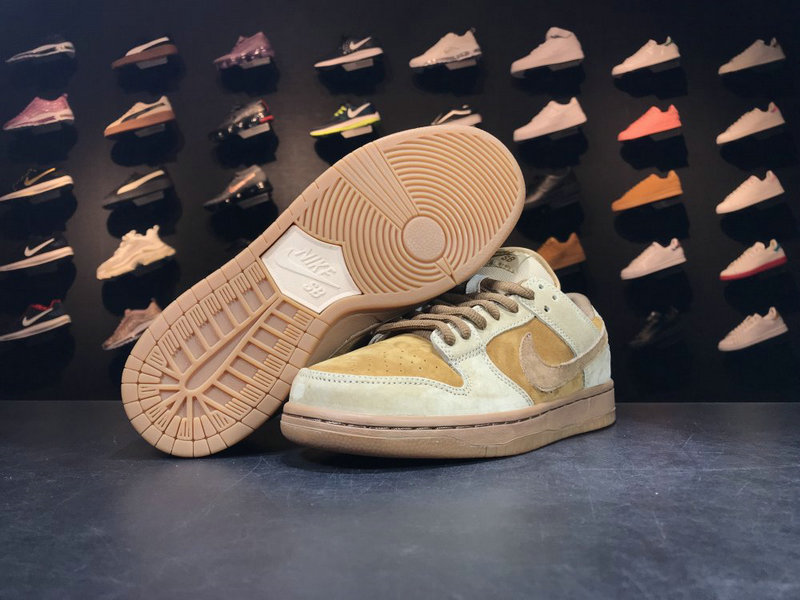 Cheap Wholesale 883232 700NIKE SB DUNK low pro White Wheat
