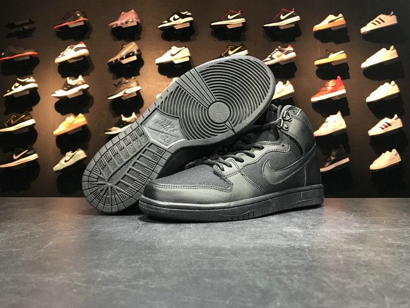 Cheap Wholesale 917567 003 SB NIKE SB DUNK HI Black