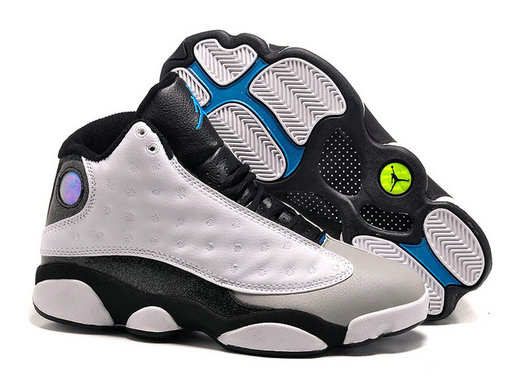Cheap Wholesale Air Jordan 13 Gym White Black Grey Blue