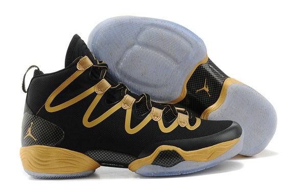 Cheap Wholesale Air Jordan 28 Retro Gold Black