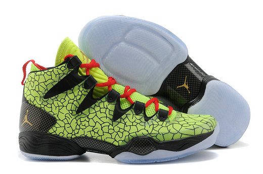 Cheap Wholesale Air Jordan 28 Retro Green Black Red