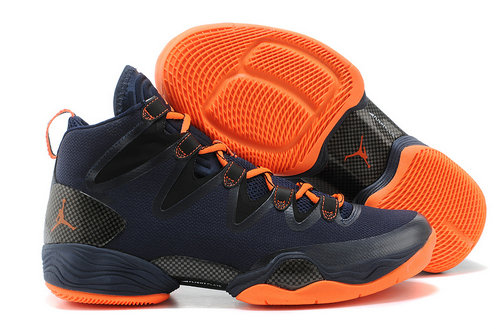Cheap Wholesale Air Jordan 28 Retro Orange Navy Blue