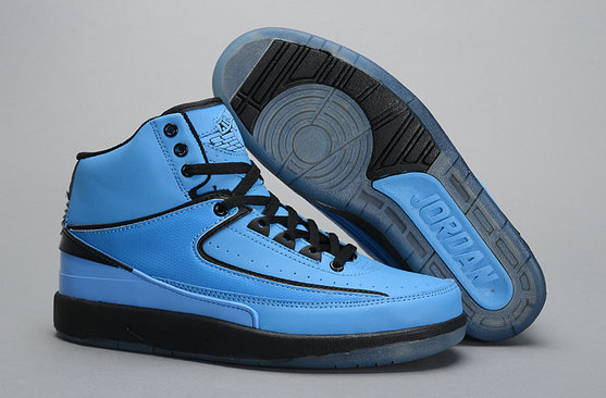 Cheap Wholesale Air Jordan 2s Blue Black