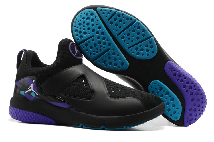 Cheap Wholesale Air Jordan 8 Trainer Essential Black Blue Purple