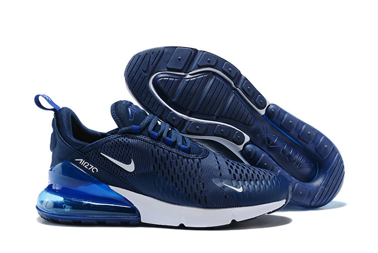 Air Max Cheap Wholesale x Nike Air Max 270 White Navy Blue