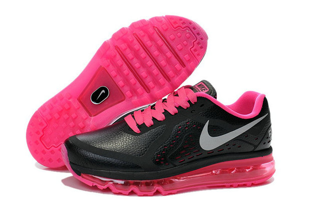 Cheap Wholesale Air Maxs 2014 Women Leather Pink Black Grey
