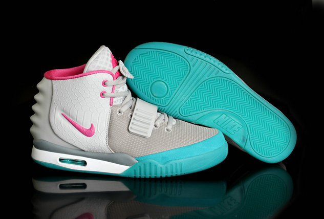 Cheap Wholesale Air Yeezy 2 Womens Pink Grey White Green