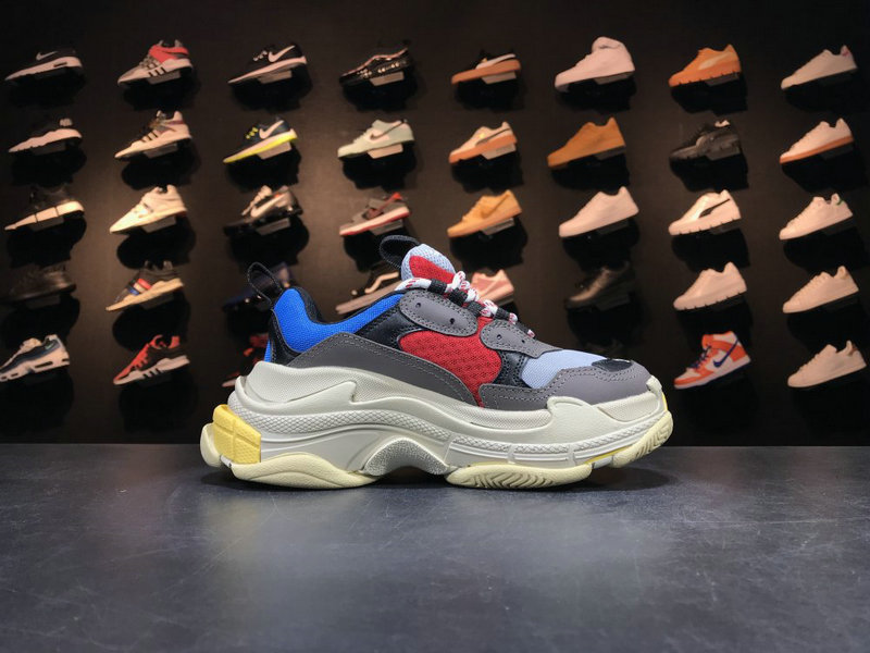Cheap Wholesale Balenciaga Tripe-S 17FW Grey Red Blue