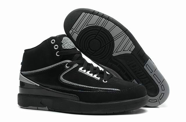 Cheap Wholesale Jordan 2 Retro Black Grey