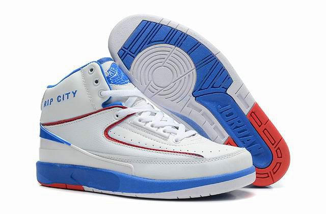 Cheap Wholesale Jordan 2 Retro Blue White Red