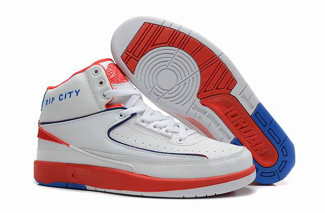Cheap Wholesale Jordan 2 Retro Orange White Blue