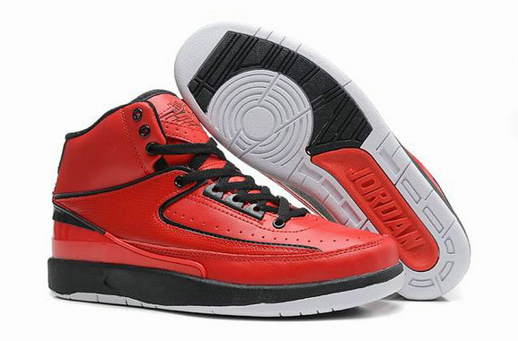 Cheap Wholesale Jordan 2 Retro Red Black White