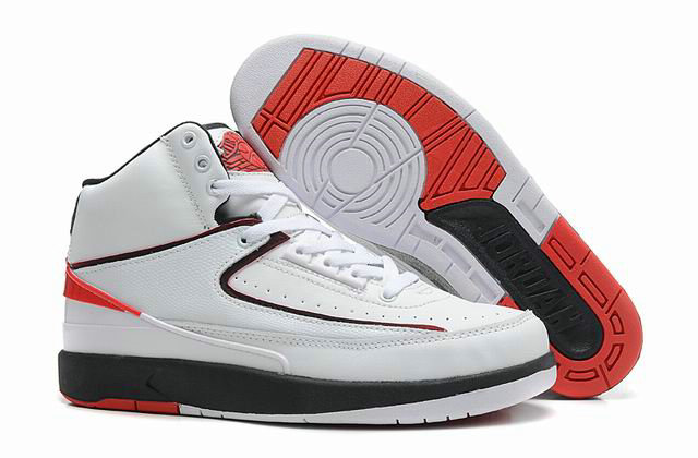 Cheap Wholesale Jordan 2 Retro White Red Black