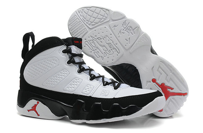 Cheap Wholesale Jordan 9 Women Black White Red