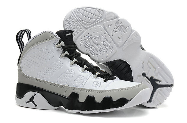 Cheap Wholesale Jordan 9 Women White Black Grey