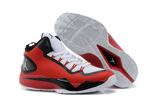 Cheap Wholesale Jordan Super Fly 2 PO White Red Black