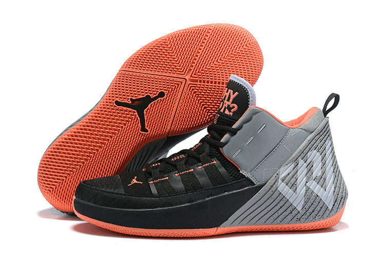 Wholesale Cheap Jordan Why Not Zer0.2 Grey Black Orange