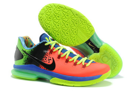 Cheap Wholesale KD 5 Elite Blue Orange Black Green