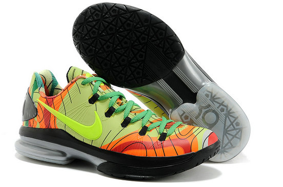 Cheap Wholesale KD 5 Elite Yellow Green Black