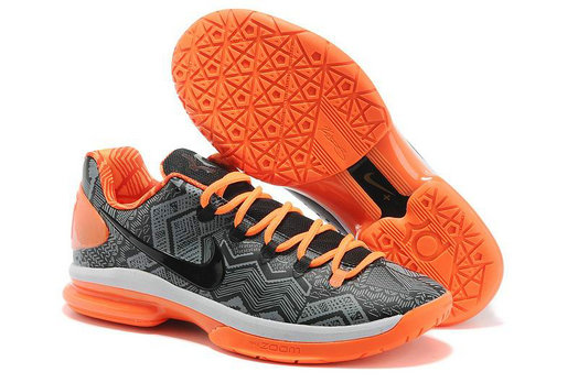 Cheap Wholesale Kevin Durant 5 Elite Orange Grey Black