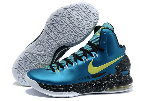 Cheap Wholesale Kevin Durant Shoes Blue Yellow Black White