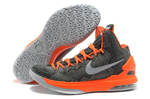 Cheap Wholesale Kevin Durant Shoes Grey Orange White