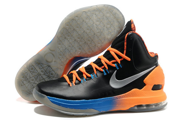 Cheap Wholesale Kevin Durant Shoes Orange Black Grey Blue