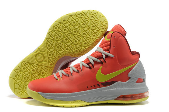 Cheap Wholesale Kevin Durant Shoes Red Yellow Grey