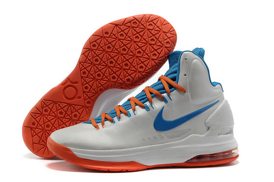 Cheap Wholesale Kevin Durant Shoes White Blue Orange Red