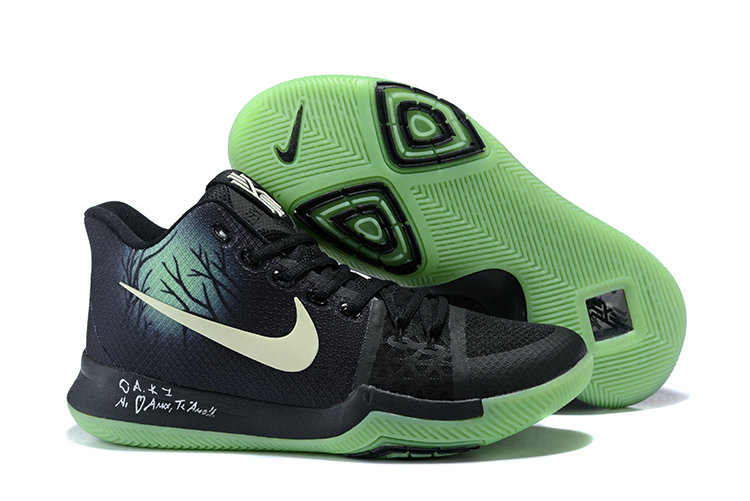 Cheap Wholesale Kyrie 3 Nike Kyrie Irving 3 Air Cushion Black Green