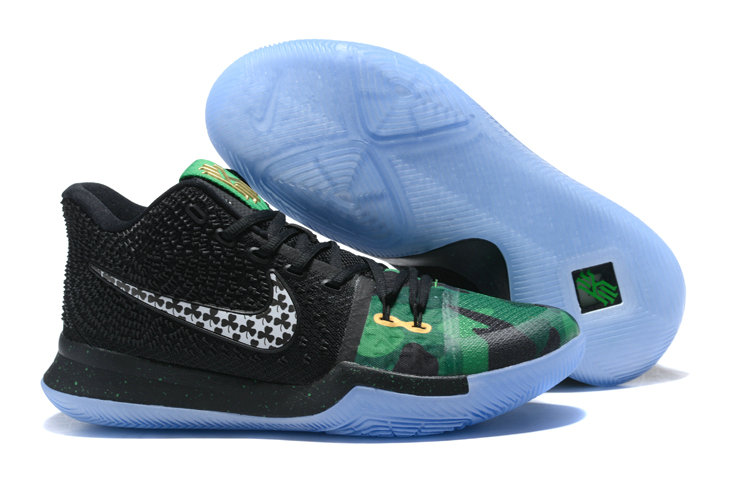 Cheap Wholesale Kyrie 3 Nike Kyrie Irving 3 Air Cushion Black Grey Green