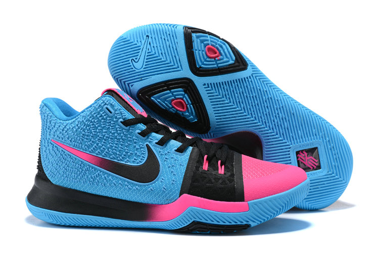 Cheap Wholesale Kyrie 3 Nike Kyrie Irving 3 Air Cushion Blue Pink Black