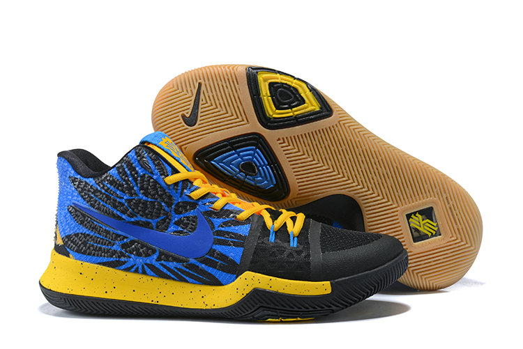 Cheap Wholesale Kyrie 3 Nike Kyrie Irving 3 Air Cushion Blue Yellow Black