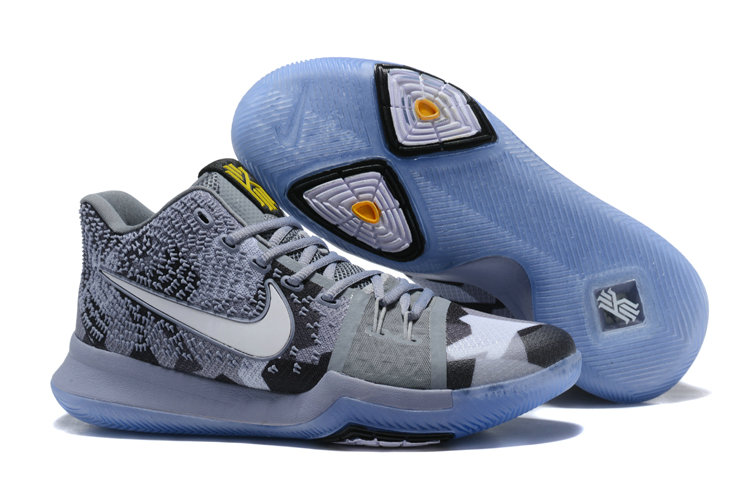 Cheap Wholesale Kyrie 3 Nike Kyrie Irving 3 Air Cushion Grey White Black